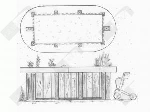 Zeichnung Urnen-Hochgrab Grabholz GmbH